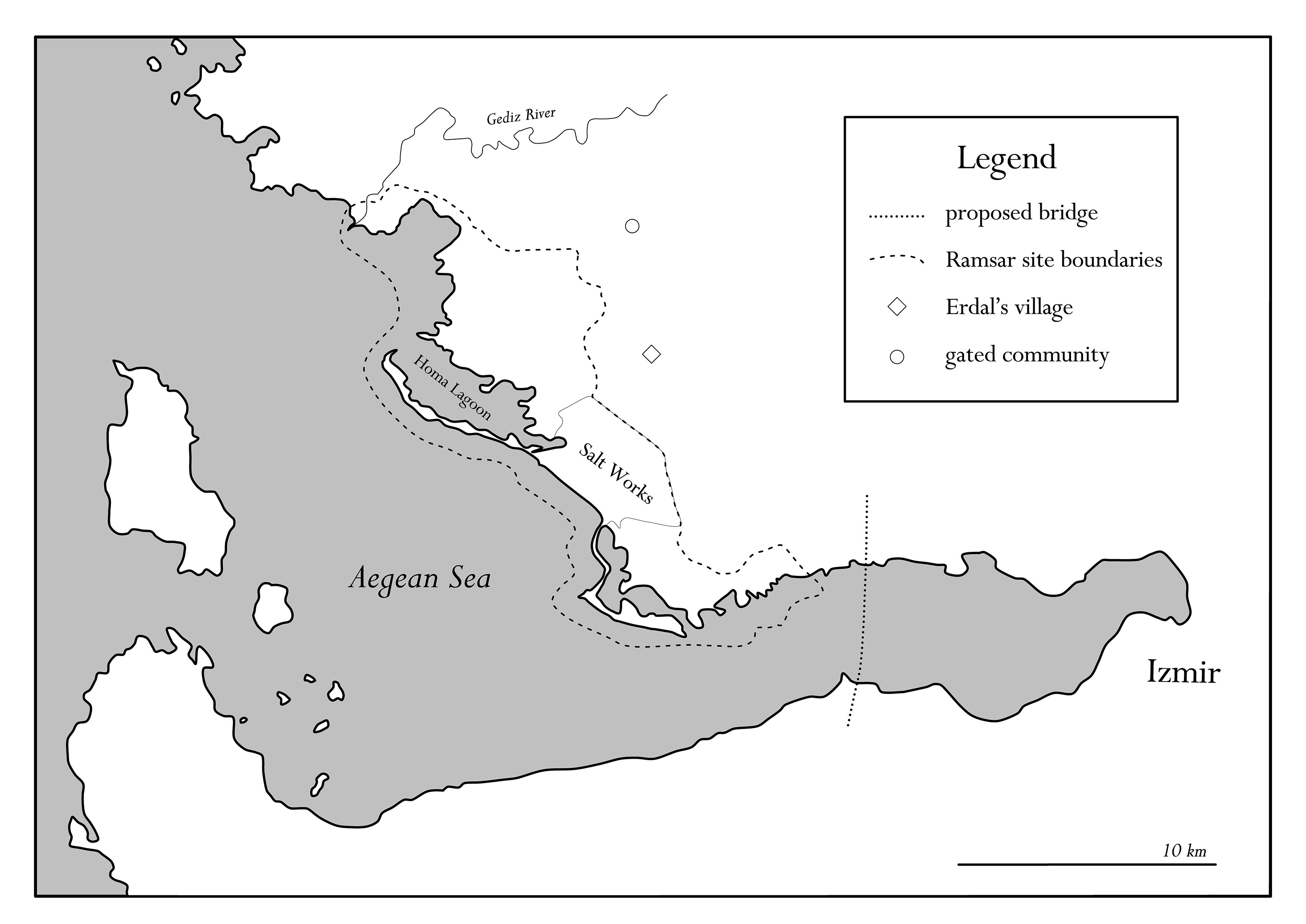 Map of the Gediz Delta and the Izmir Bay. Map by Caterina Scaramelli.