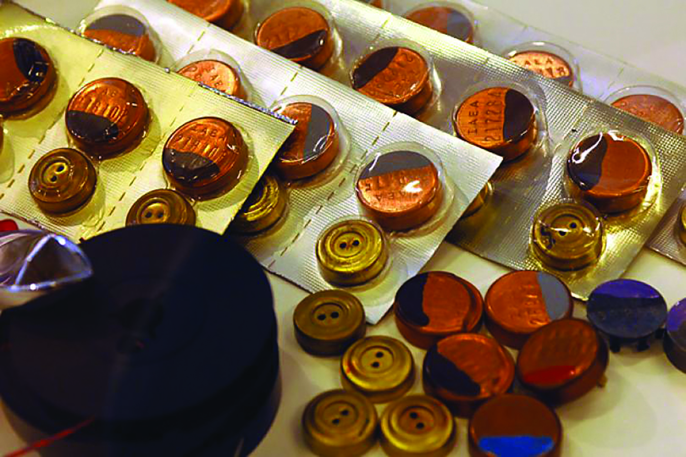 Loose and packaged seals used in training. Photo by Dean Calma/IAEA.