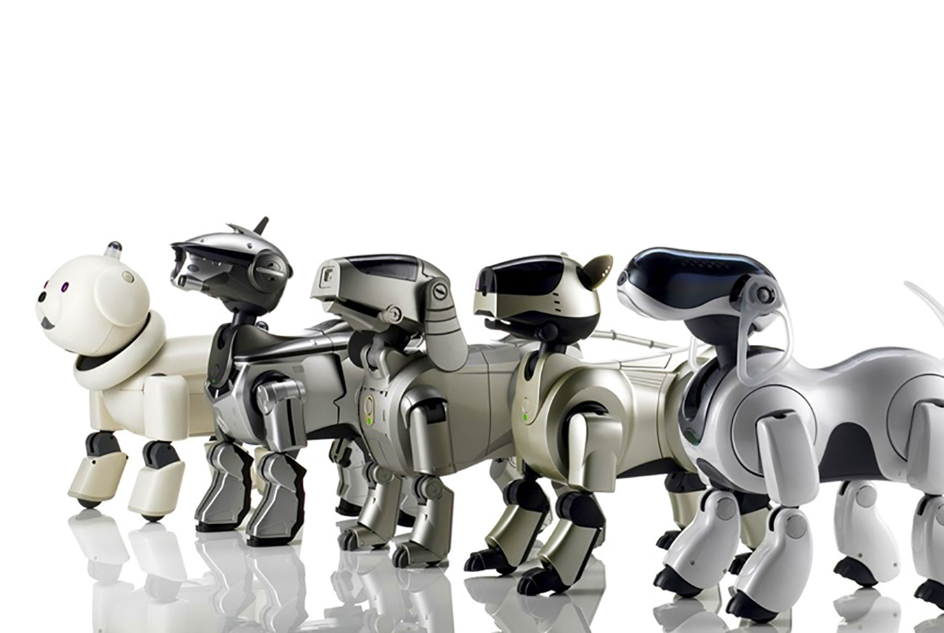 AIBO models, 1999–2006, by Sony.