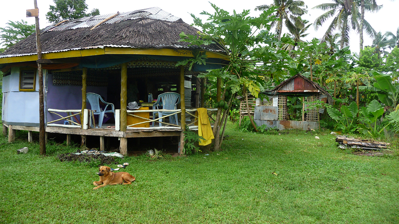 The house Tanu built at his plantation. Photo by Jessica Hardin.