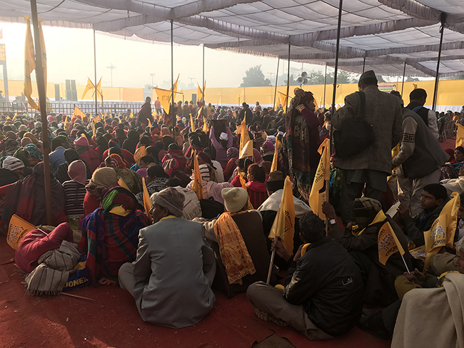The crowd at a cow-protection rally called by the guru Kanha's organization. Photos by Radhika Govindrajan.